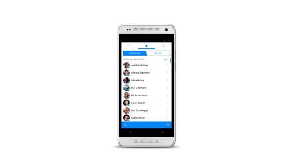Ansicht der Kontakte auf dem Android Facebook Messenger (Quelle: Facebook)