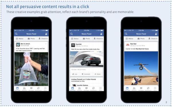 Beispiele für überzeugende Inhalte (Quelle: Facebook)