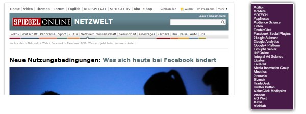 Screenshot spiegel.de