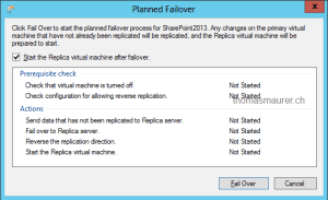 Hyper-V Replica Planned Failover