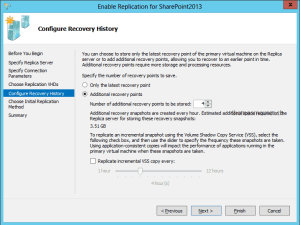Hyper-V Replica recovery points