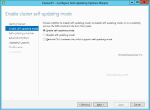 CAU configure self-updating
