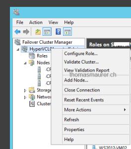 Windows Server 2012 Failover Cluster Manager Configure Role
