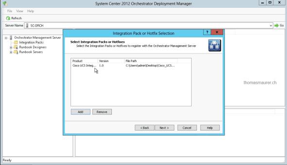 Cisco UCS Integration Pack Orchestator Deployment Manager