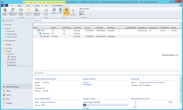 Microsoft Hyper-V Network Virtualization Gateway Service Template