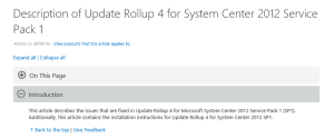 Update Rollup 4 for System Center 2012 Service Pack 1