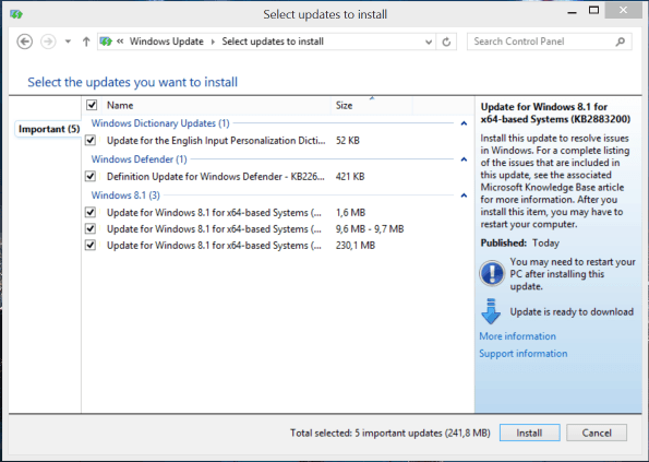 Windows 81 Updates