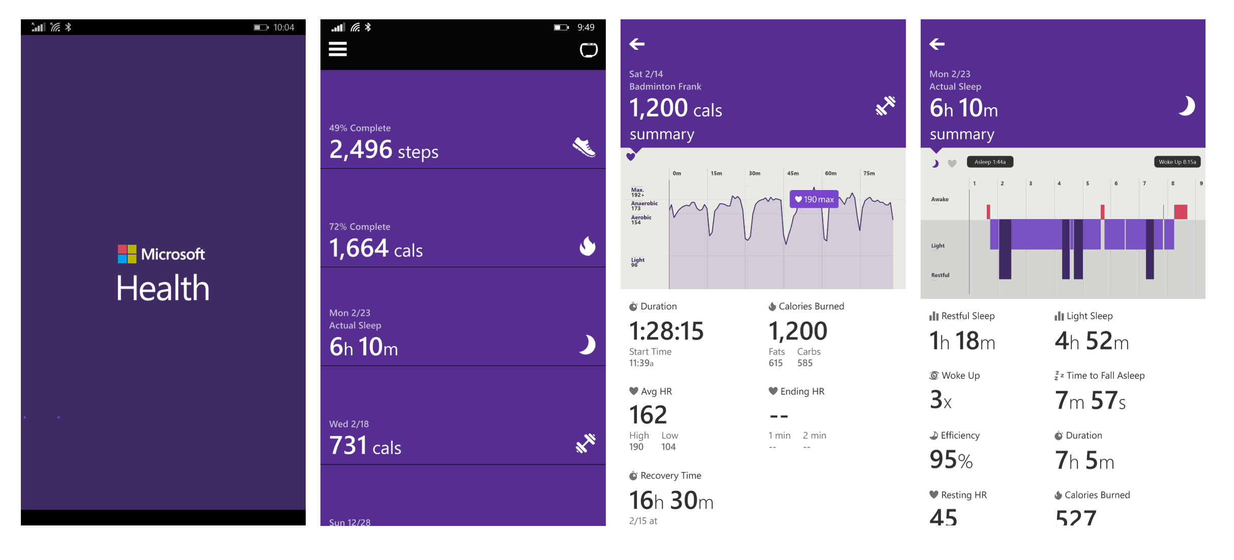 microsoft health and fitness app