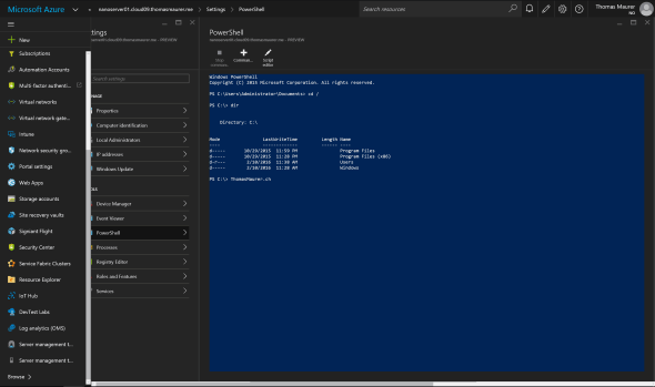 Azure Remote Server Management PowerShell
