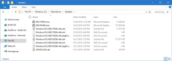 Nano Server Update Folder