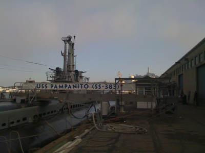photo of submarine at dock