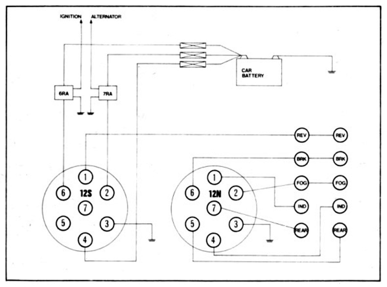 trailer caravan electrical 12n normal wiring diagram