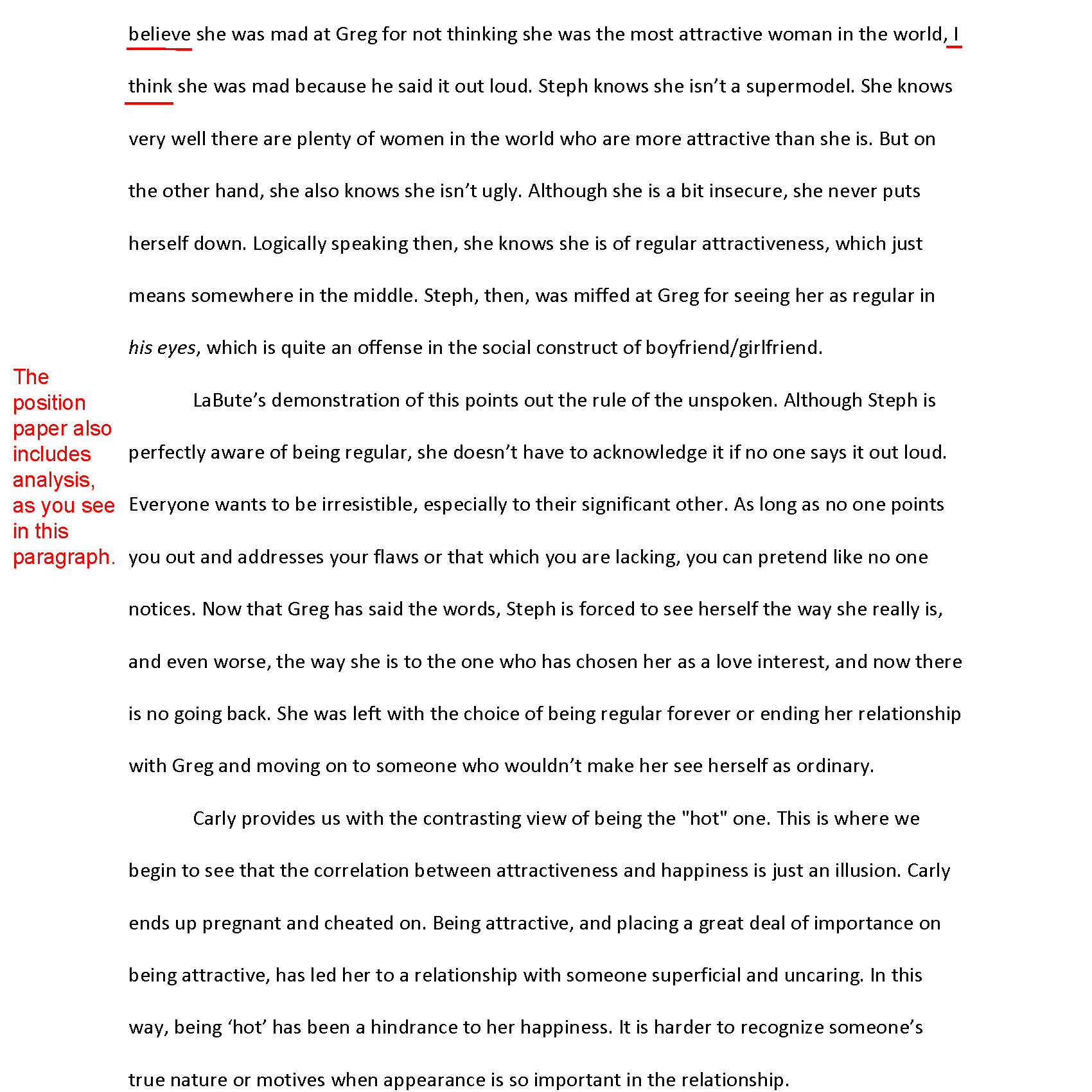 how to write a book report college level format