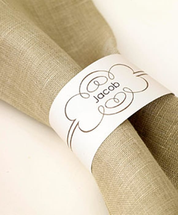 Paper Napkin Rings For Thanksgiving Place Settings