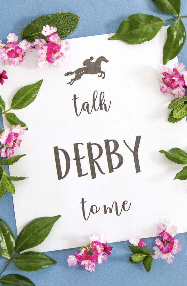 Kentucky Derby Printable Signs + Our Derby Fashion Thoughtfully Simple