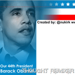 Free Obama Twitter Background