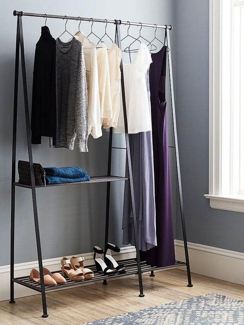 antique grey modular clothes rack