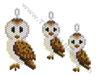 Barn Owl Pendant And Earring Bead Pattern By Threadabead