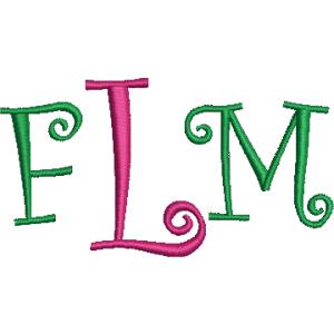 Curlz Monogram