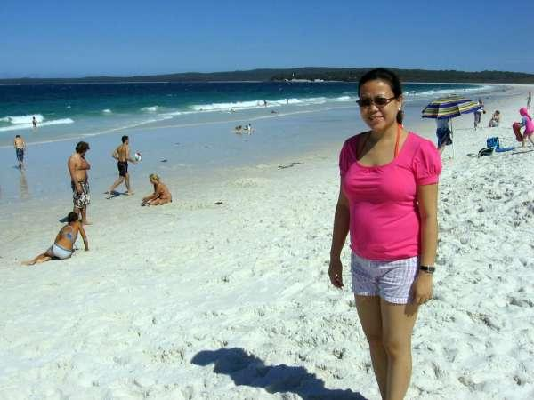 Girl on Hyman Beach Jervis Bay