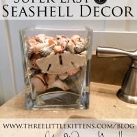 Super Easy Seashell Decor