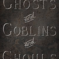 31 Days of Halloween Digital Goodies - Ghosts, Goblins and Ghouls Rustic Metal Sign