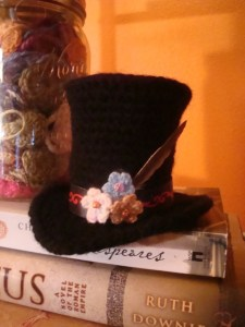 Bridgett's crocheted Steampunk hat!