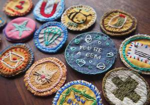 Make your own Merit Badge! Photo by Julie Schneider.