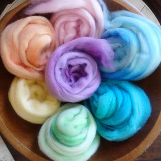 Pastel Rainbow Merino Wool Spinners Pack by ontheround. Image by ontheround.
