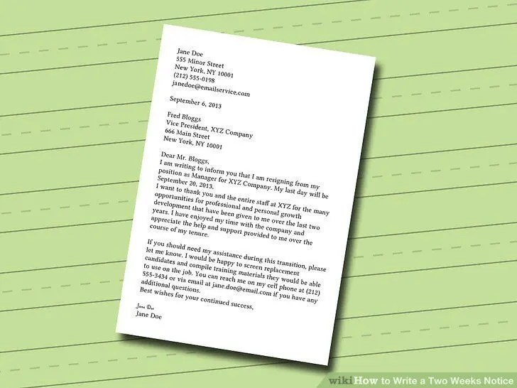 Should You Give an Employer Two Weeks Notice? Employment Three