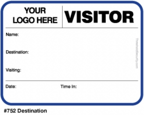 Sign-In Books with Badges - Visitor Pass Registry Book Threshold