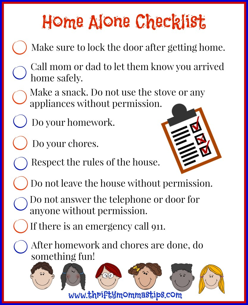 Flying solo when is it okay to leave the kids at home for Home safety facts
