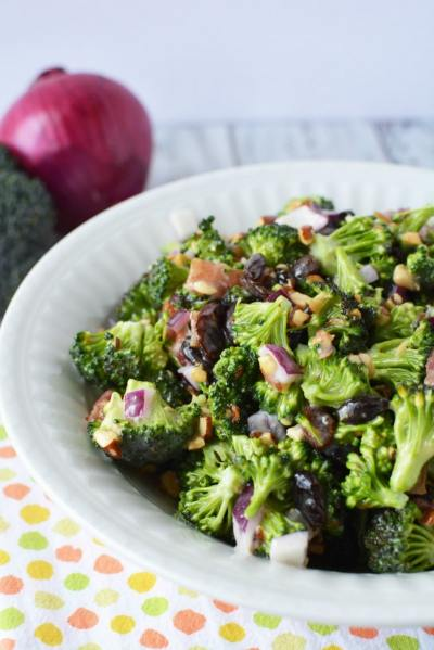 Easy Broccoli Salad Recipe - Perfect for Potlucks! Plus How-To Video - Thrifty NW Mom