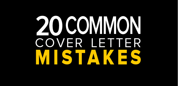 20 Common Cover Letter Mistakes - Infographic ThriveYard