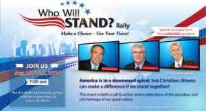 Who Will Stand? Rally – August 18 & 19 – Cisco, TX