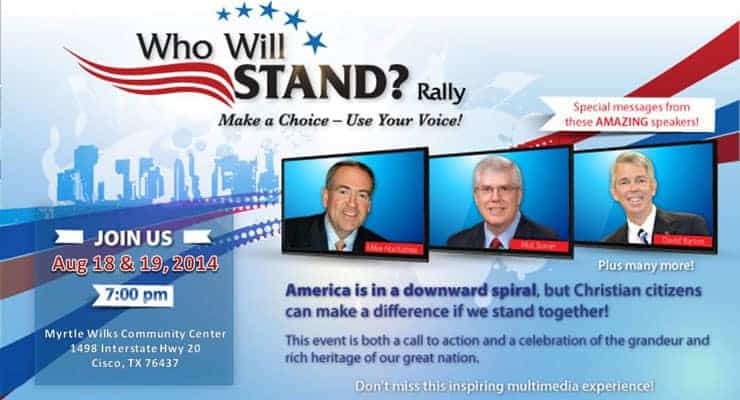 Who Will Stand? Rally