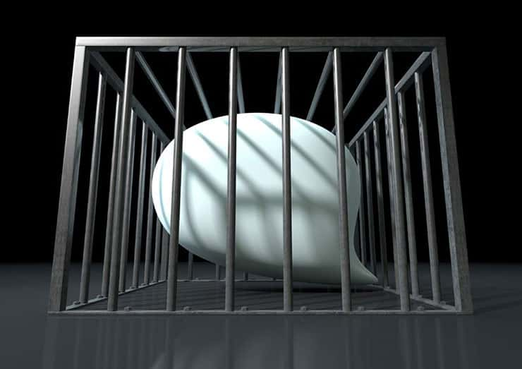 thought bubble in cage