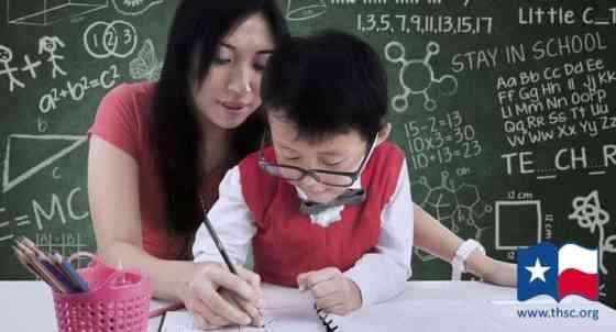 homeschool mom homeschooling her son