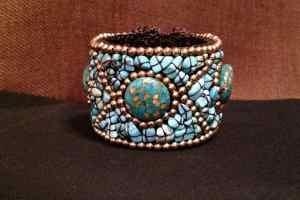 blue and turquoise bracelet