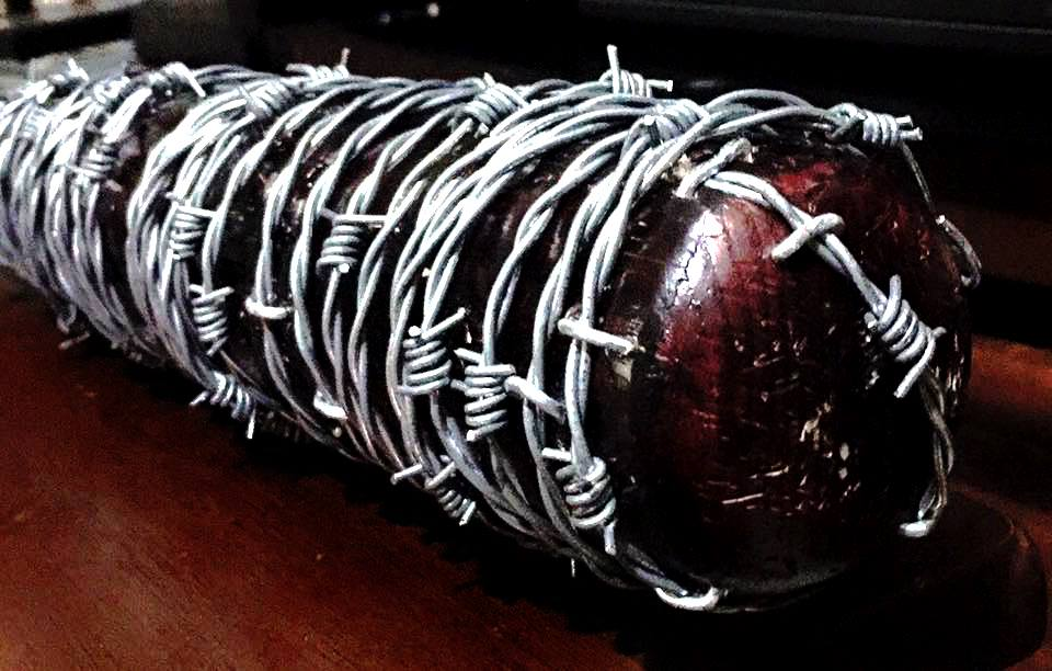 These fan made Lucille replica bats from NSANE Creations are insanely cool!