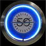 Thunderbird 50th Anniversary Neon Wall Clock