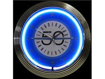 Thunderbird 50th Anniversary Neon Wall Clock