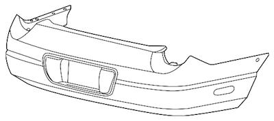 OEM Rear Bumper Cover
