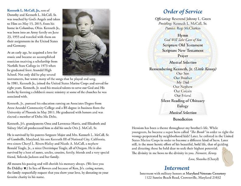 Funeral Programs Thunder Grafix, Ltd - program for a funeral