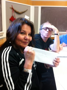 Brenda Prince, about to open Kevin''s letter