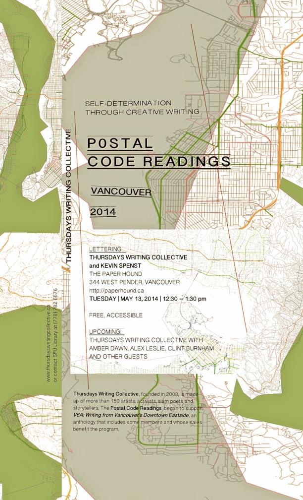 postal code readings poster - Spenst - Version 3