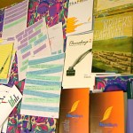 Some chapbooks and visual poems at our last reading with Clint Burnham in July