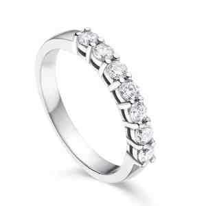 Tiaria Perhiasan cincin emas berlian White Gold 18K Diamond