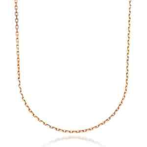 Perhiasan emas berlian white gold 18K Italiano Necklace