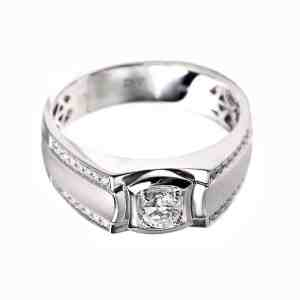 Perhiasan emas berlian white gold 18K diamond DHTXHJZ052
